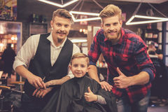 Kid at the barber shop Royalty Free Stock Photography