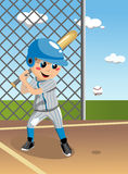 Kid Baseball Batter. Boy playing baseball in field. You can find different kids or children playing sports in my portfolio Royalty Free Stock Images