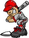 Kid Baseball Batter Holding Bat Royalty Free Stock Photos