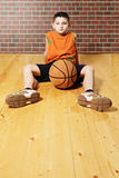 Kid with basketball Royalty Free Stock Photography
