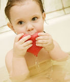 Kid in a bath Royalty Free Stock Photos