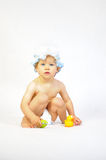 Kid before bath Royalty Free Stock Photos