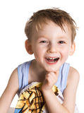 Kid in bath towel Stock Photo