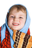 Kid in bath towel Royalty Free Stock Image