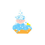 Kid bathes Royalty Free Stock Images