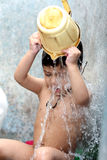 Kid bathing Royalty Free Stock Photos