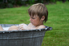 Kid in bathtub Royalty Free Stock Photography