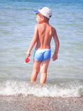 The kid at the beach Royalty Free Stock Photos
