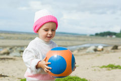 The kid at the beach Royalty Free Stock Photo