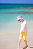 Kid at the beach Stock Image