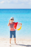 Kid at the beach Stock Photo