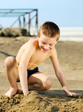 Kid on the Beach Royalty Free Stock Photography