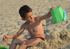 Kid on the beach Royalty Free Stock Images