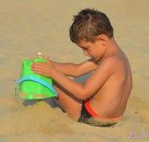 Kid on the beach Stock Photography