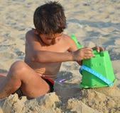 Kid on the beach Royalty Free Stock Photos