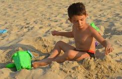 Kid on the beach Royalty Free Stock Photo