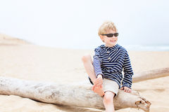 Kid at the beach Royalty Free Stock Photos
