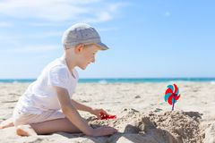 Kid at the beach Royalty Free Stock Image