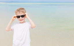 Kid at the beach Royalty Free Stock Images