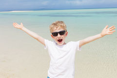 Kid at the beach Royalty Free Stock Photo