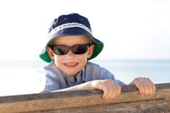 Kid at the beach Stock Photography