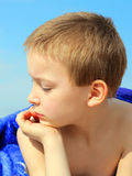 Kid on the Beach Royalty Free Stock Image