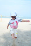Kid On Beach Portrait Stock Images