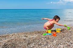 Kid on beach vacation Royalty Free Stock Photos