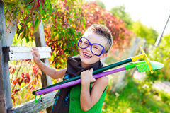 Kid in a beautiful summer day Stock Photography