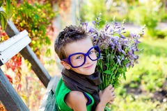 Kid in a beautiful summer day Royalty Free Stock Photos