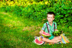 Kid in a beautiful summer day Royalty Free Stock Photography