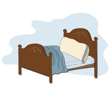 Kid bed. Illustration in vector format Royalty Free Stock Image
