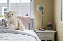 Kid bedroom with dolls Stock Photography