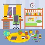 Kid Bedroom. Vector Illustration stock illustration