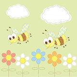 Kid bee background Royalty Free Stock Photos