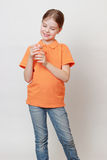 Kid and beverages Stock Photos