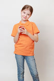 Kid and beverages Stock Photography