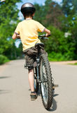 Kid with bicycle Royalty Free Stock Photography