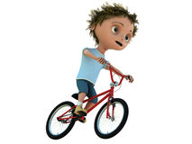 Kid on bicycle Stock Photography