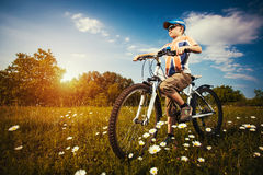 Kid on bicycle. Active Leisure Stock Image