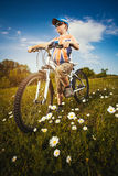 Kid on bicycle. Active Leisure Stock Images
