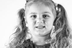 Kid with big eyes. Isolated on white background Stock Image