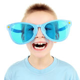 Kid in Big Glasses Stock Image