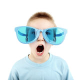 Kid in Big Glasses Stock Photography