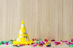 Kid birthday party set up for copy space royalty free stock photo