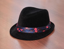 Kid black hat Royalty Free Stock Image