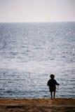 Kid at the Black Sea - Romania Royalty Free Stock Image