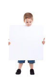 Kid with blank board Stock Photos