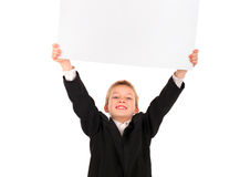 Kid with Blank Paper Royalty Free Stock Image