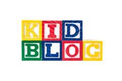 Kid Blog - Alphabet Baby Blocks on white Royalty Free Stock Images